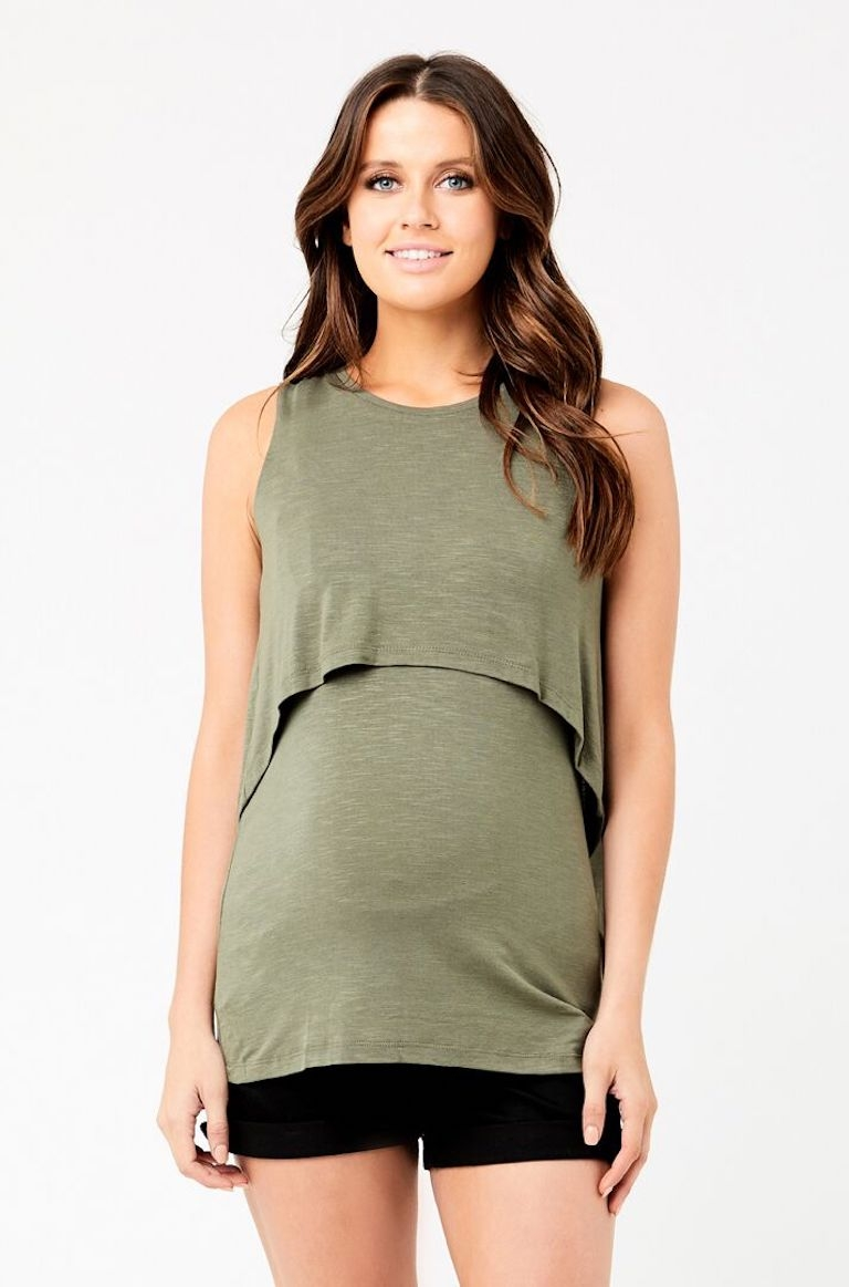 Ripe Khaki Summer Swing Back Feeding Tank