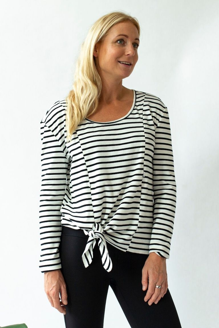 Close to the Heart Stripe Breastfeeding Tie Top