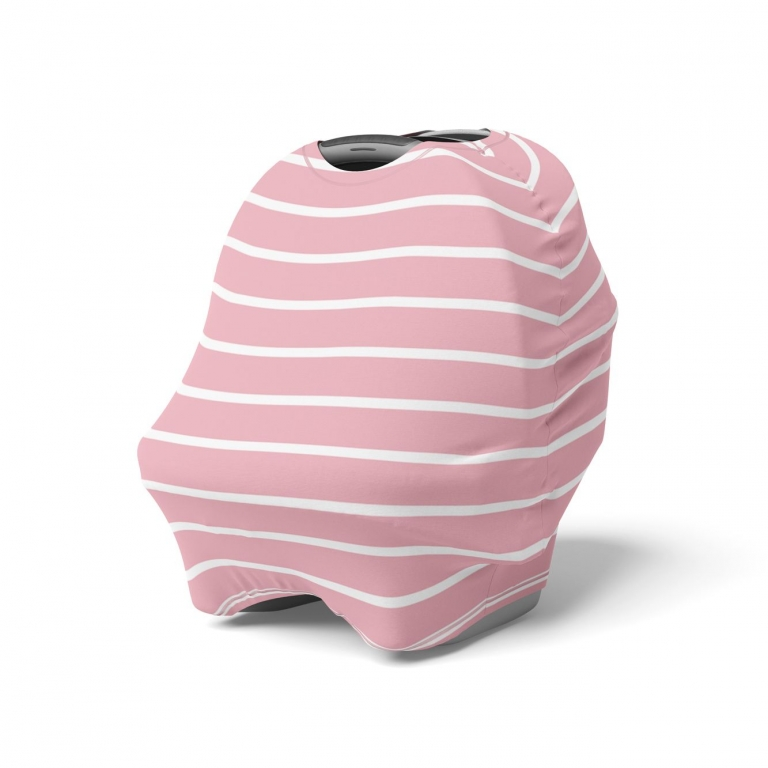 Mod & Tod Pink Stripe 5 in 1 Multi-Use Cover