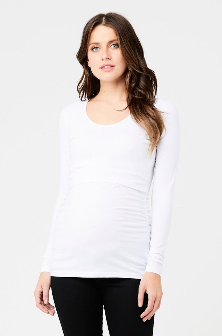 Ripe White Ali Up/Down Nursing Top