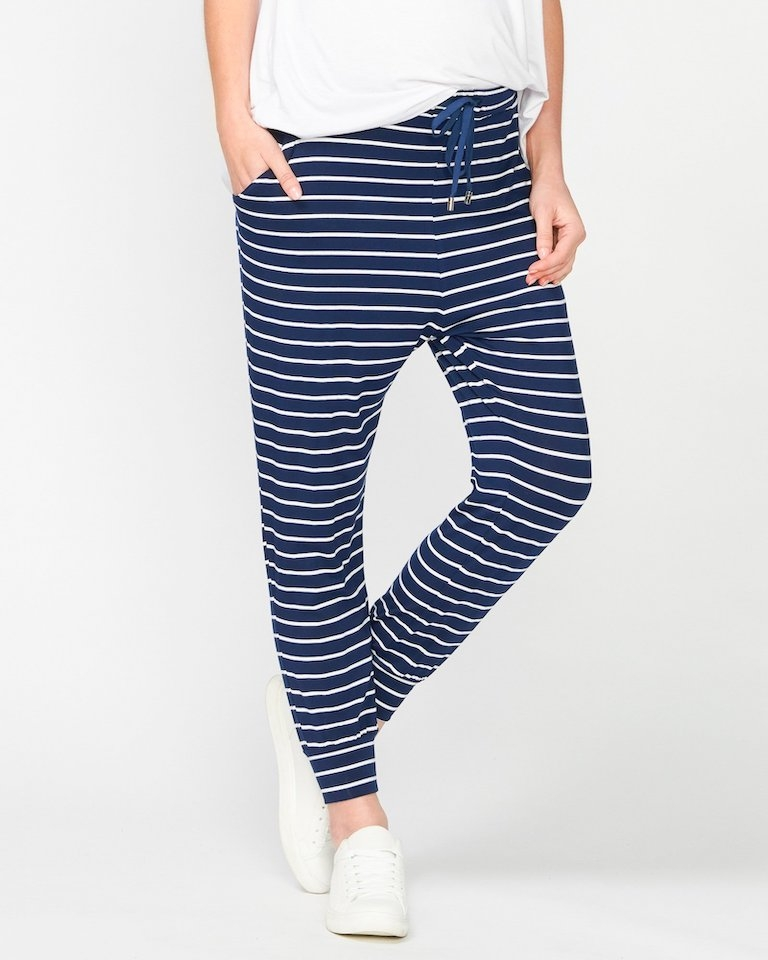 Pea in a Pod Navy Stripe Jaya Pants