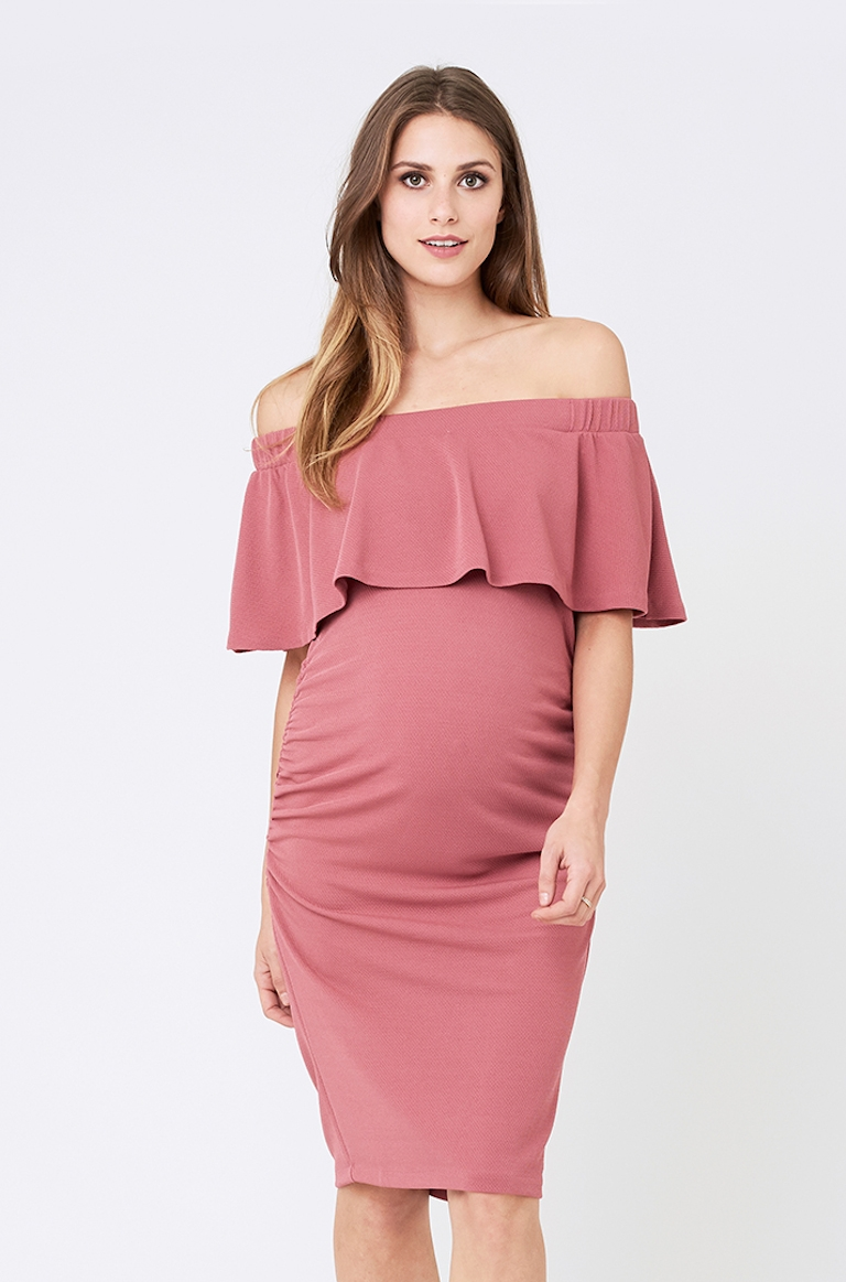 Ripe Rose Soiree Off Shoulder Dress
