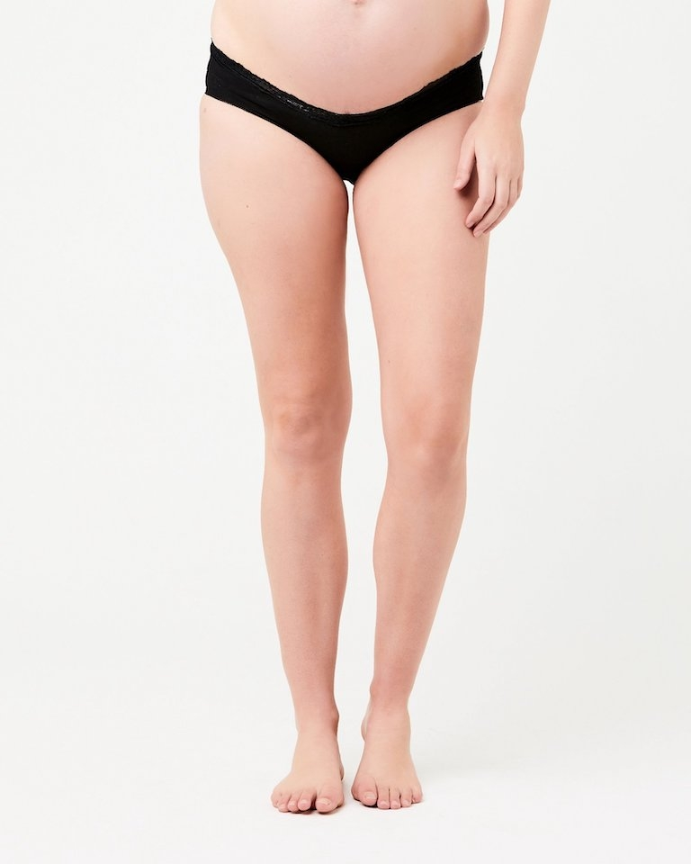Ripe Black Lacey Maternity Briefs