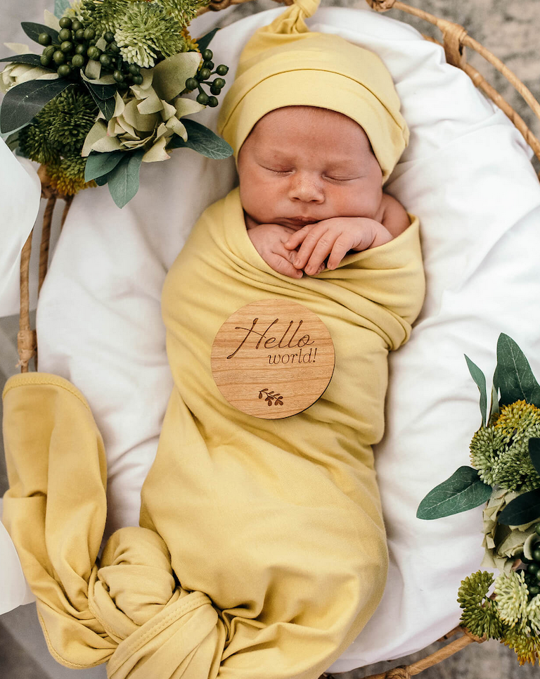Snuggle Hunny Gelato Jersey Wrap and Beanie Set