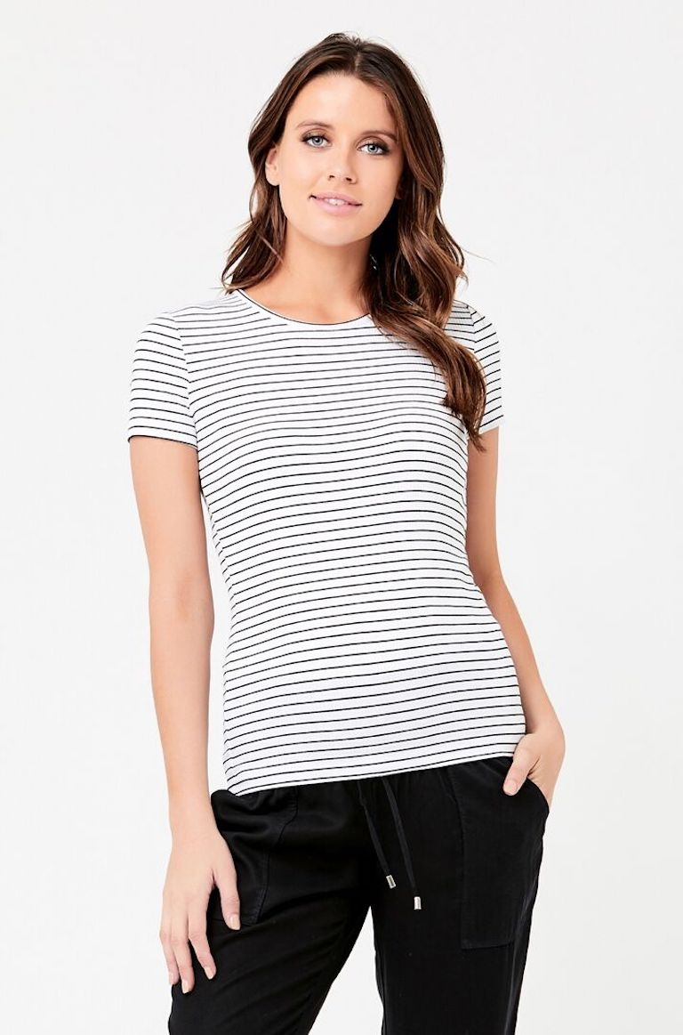 Ripe White/Black Short Sleeve Round About Tee