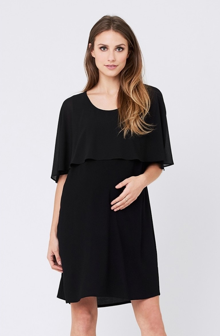 Ripe Black Edie Nursing Dress