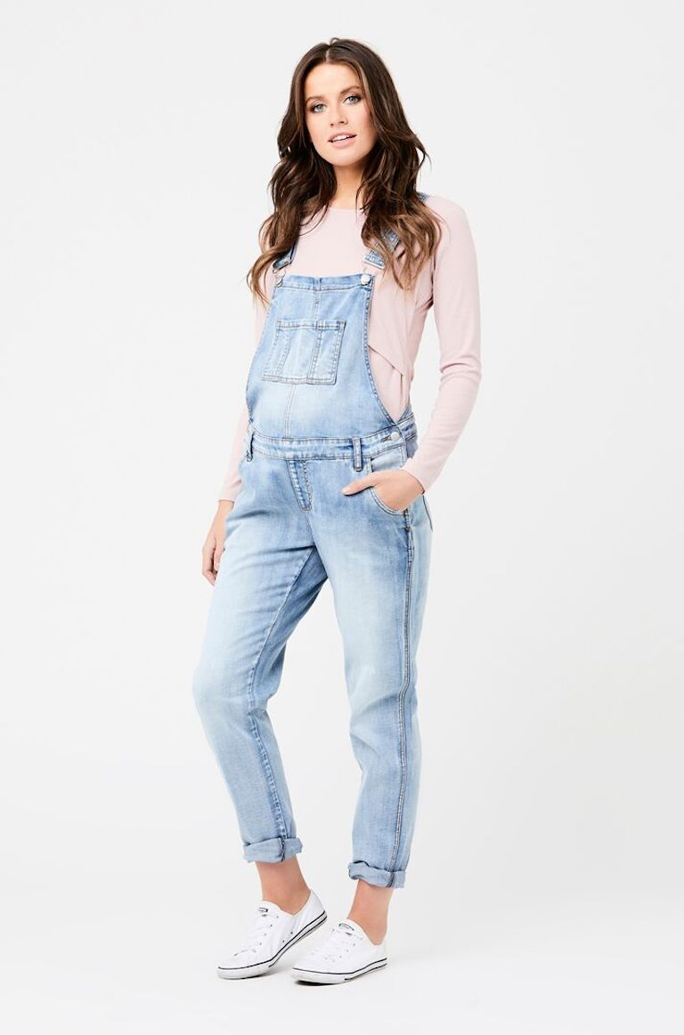 Ripe Pale Denim Overalls