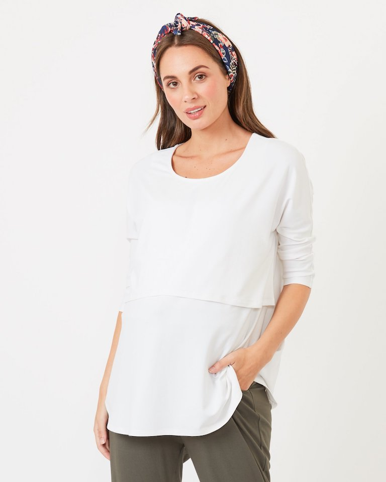 Pea in a Pod Ivory Eva Nursing Top