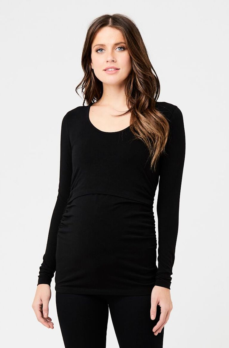 Ripe Black Ali Up/Down Nursing Top