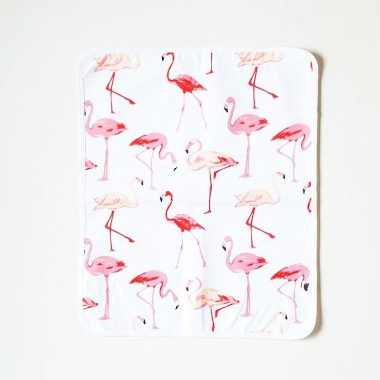 Bondi Beach Baby Change Mat Flamingo