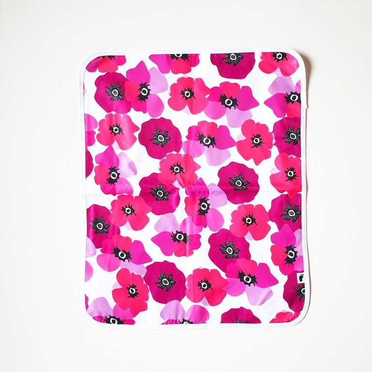 Bondi Beach Baby Change Mat Poppy