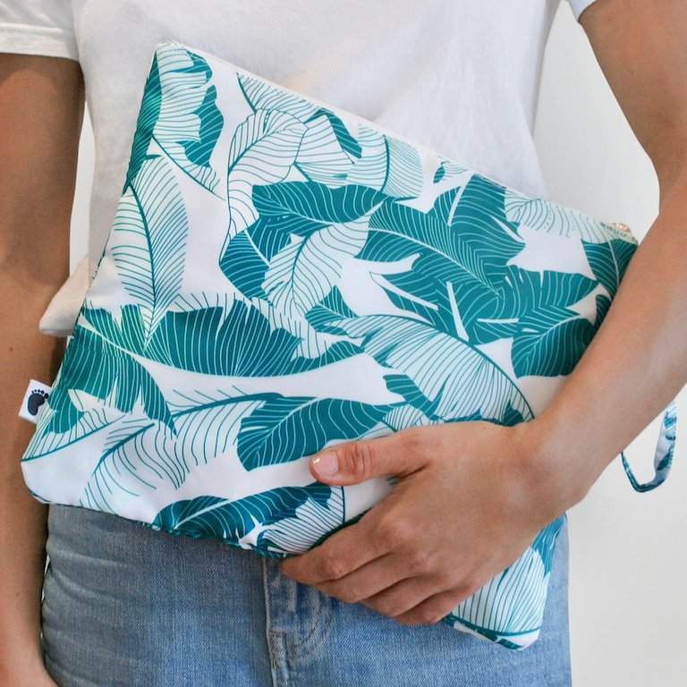 Bondi Beach Baby Nappy Clutch Palm
