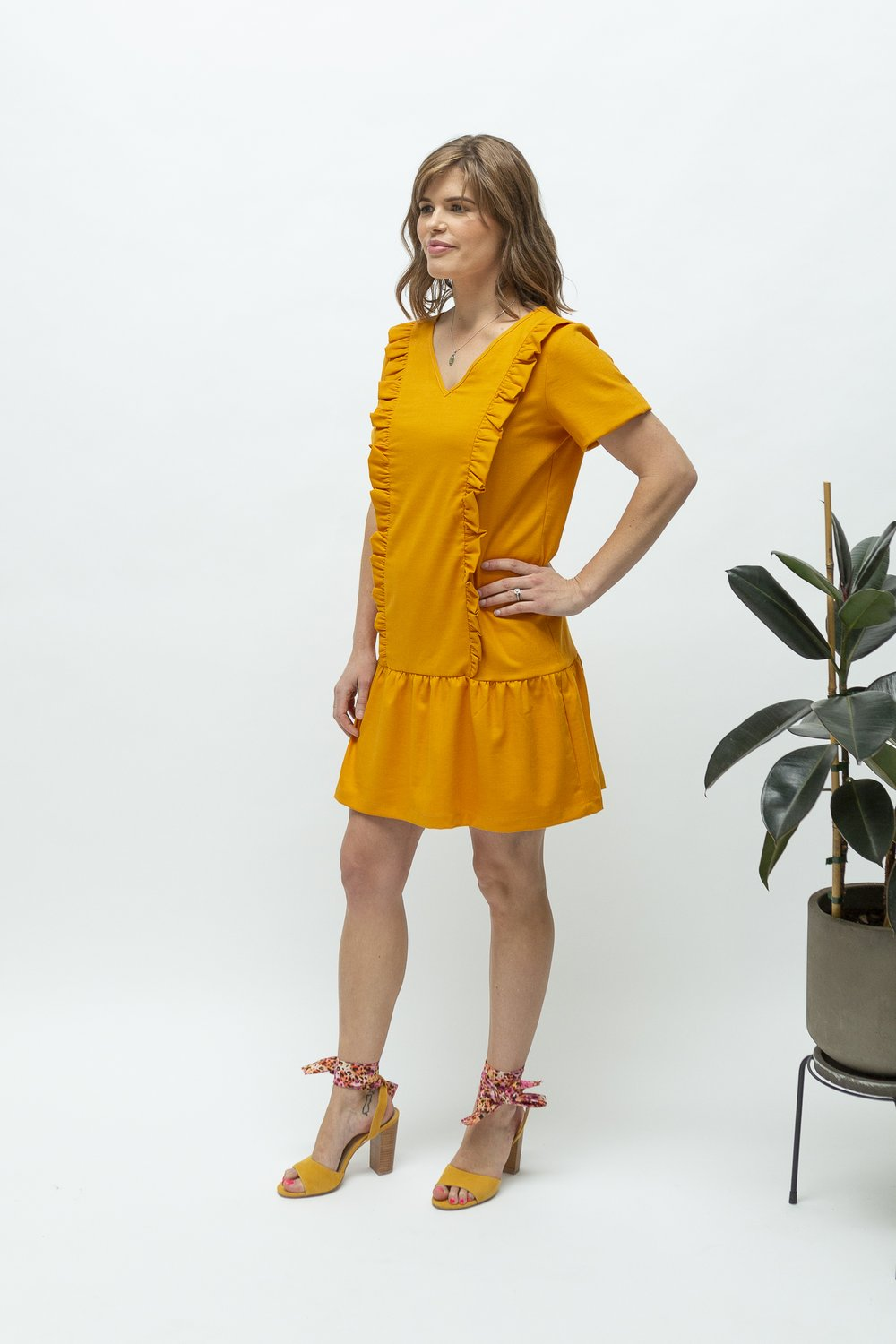 Close to the Heart Marigold Ruffle Feeding Dress