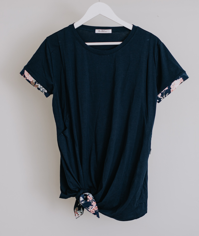 Milkbar Maternity Navy Indie Breastfeeding Tee