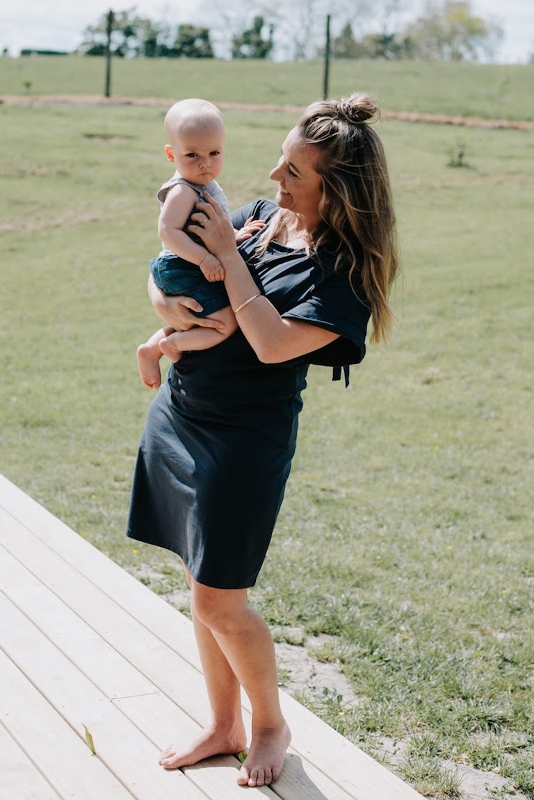 Milkbar Stella Navy Feeding Dress