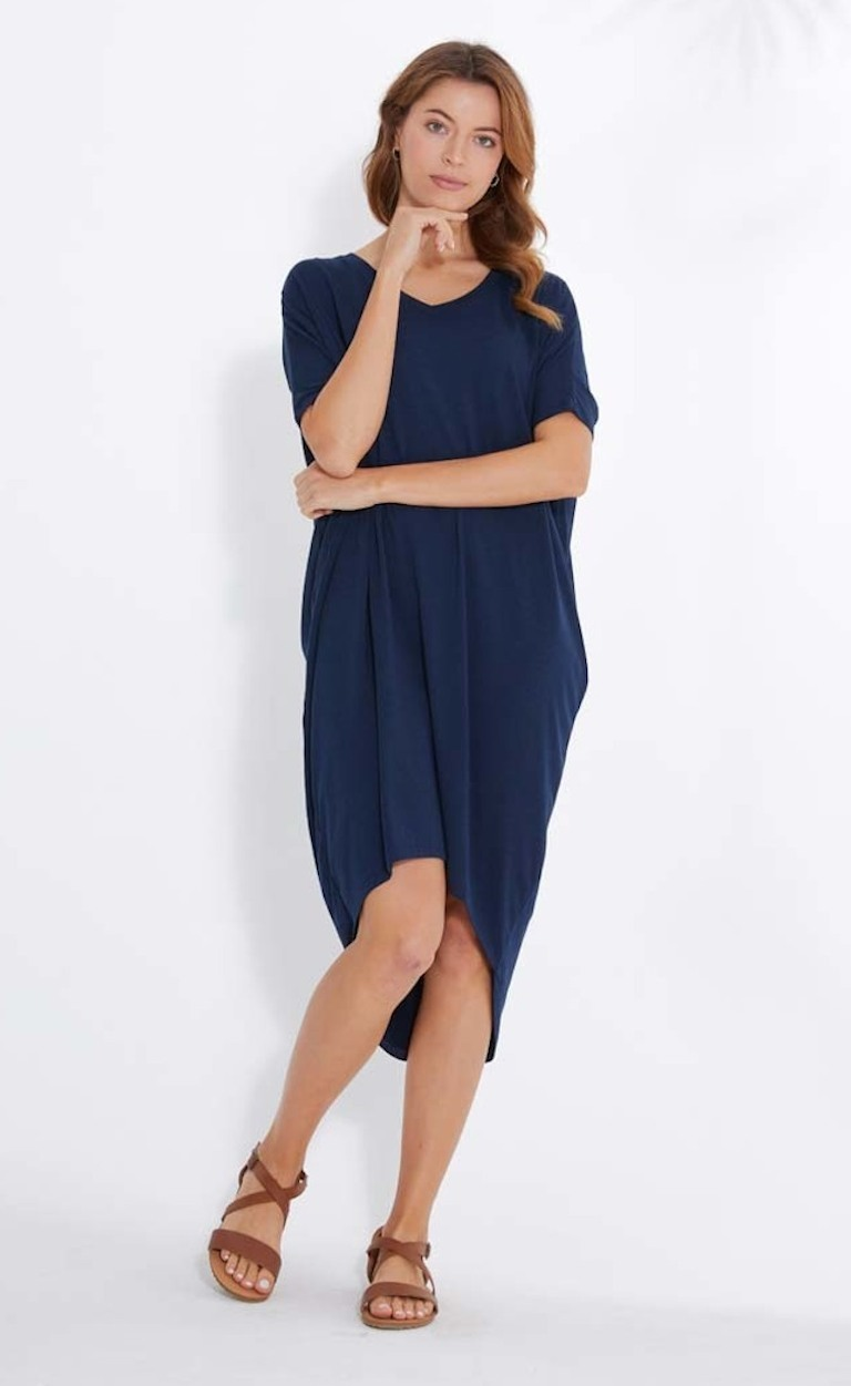 Bamboo Body Navy Sybil Dress