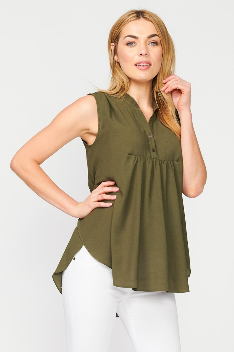 Pea in a Pod Imogen Gathered Nursing Top