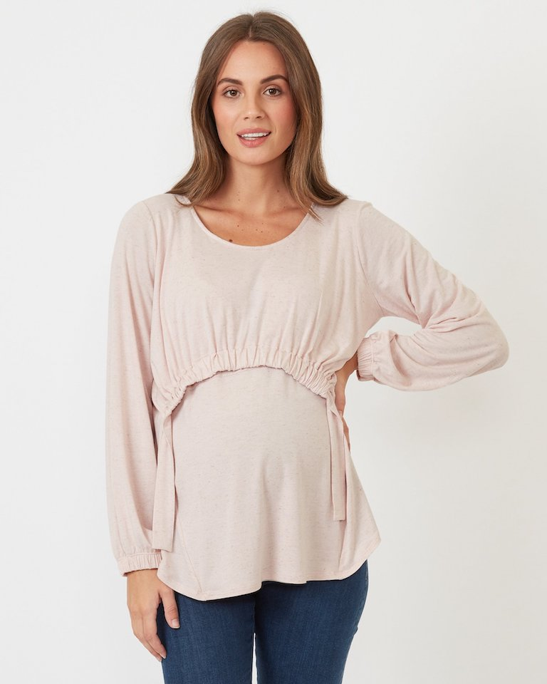 Pea in a Pod Blush Karla Feeding Top