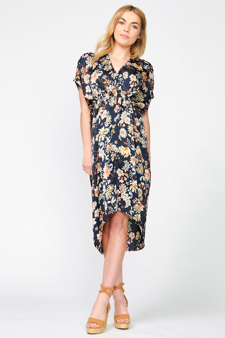 Pea in a Pod Navy Print Veronica Dress