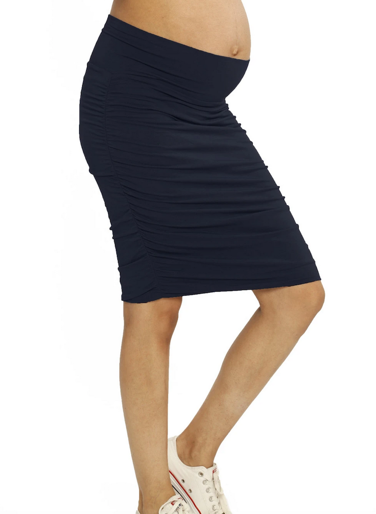 Angel Maternity Black Ruched Skirt