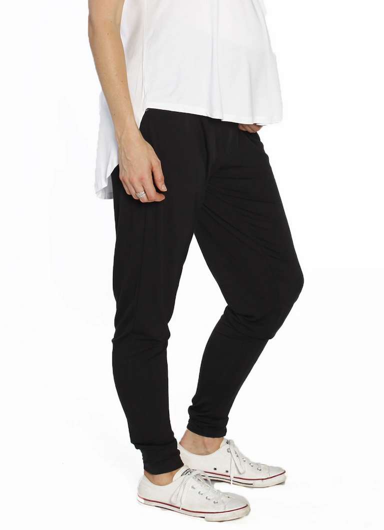 Angel Maternity Black Bamboo Lounge Pants