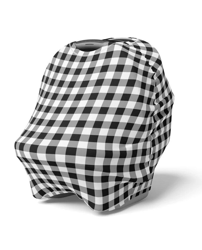 Mod & Tod Black Gingham 5 in 1 Multi Use Cover