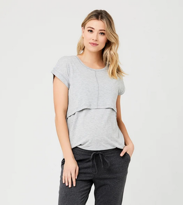 Ripe Grey Marle Richie Breastfeeding Tee