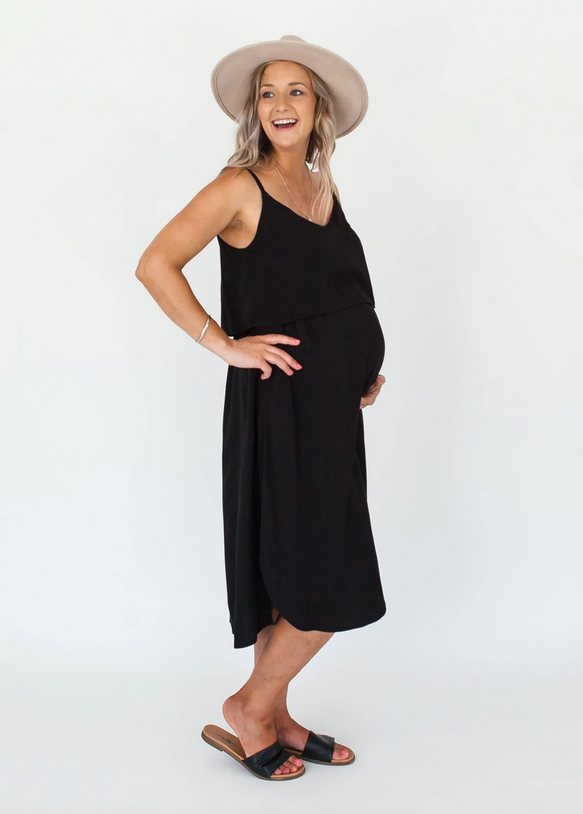 Milkbar Black Ruby Midi Feeding Dress