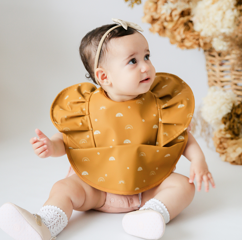Snuggle Hunny Sunrise Frill Waterproof Snuggle Bib