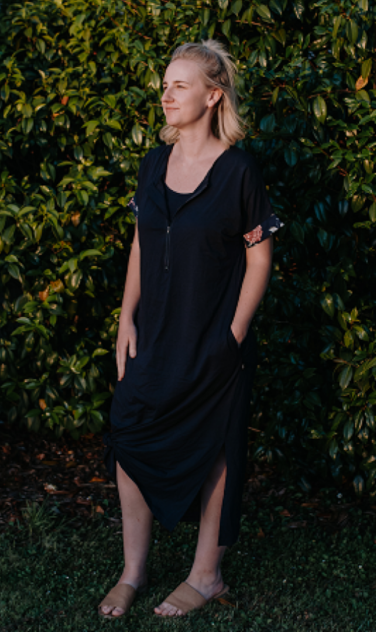 Milkbar Maternity Navy Indie Breastfeeding Dress