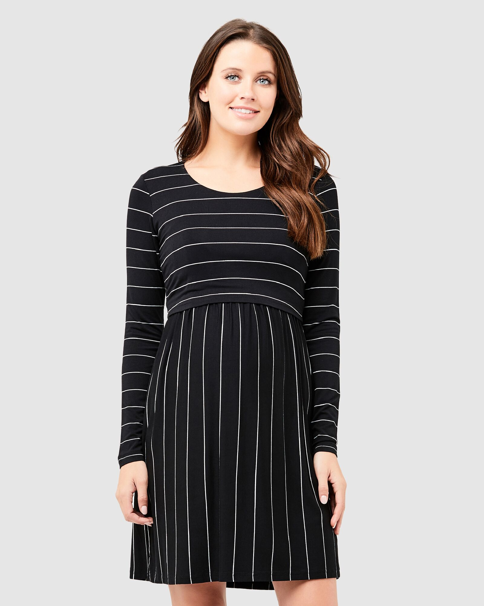 Ripe Long Sleeve Crop Top Nursing Dress