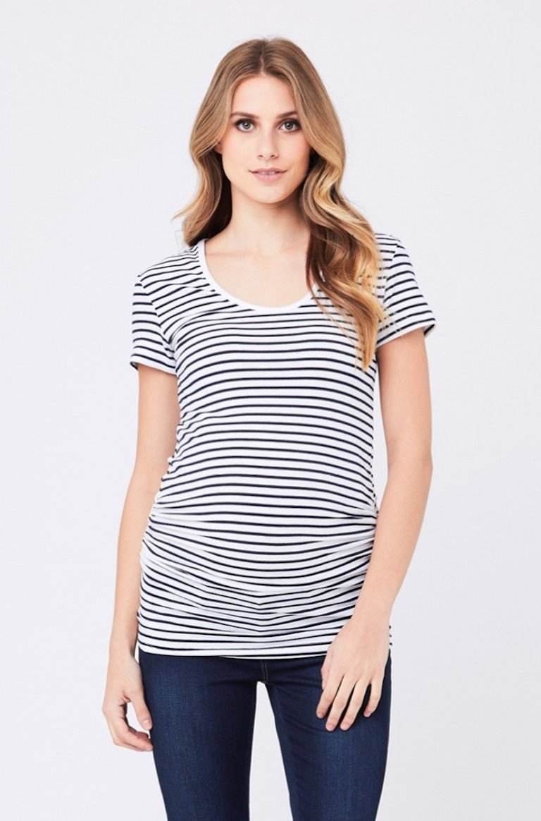 Ripe Navy/White Striped Tube Tee